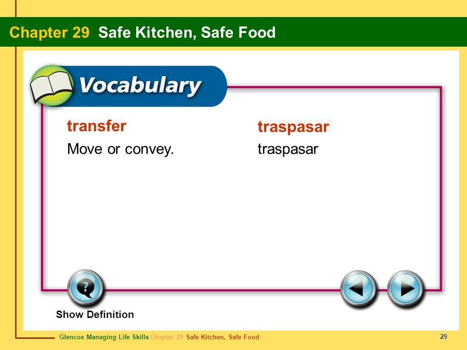 transfer traspasar Move or convey. traspasar Show Definition