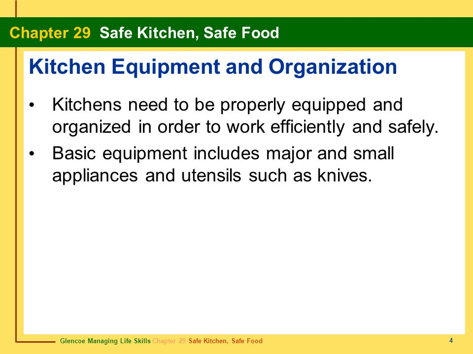 Kitchen Equipment and Organization