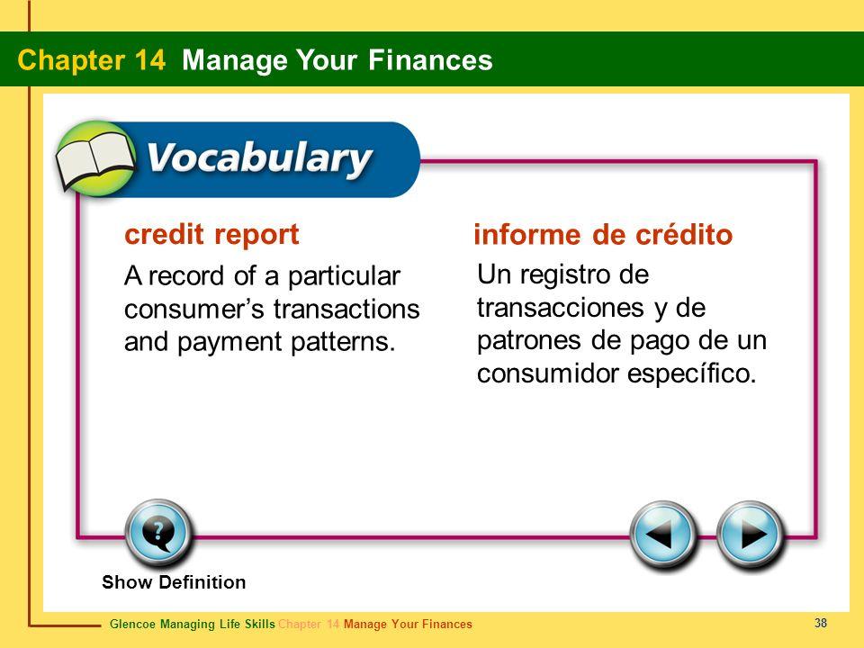 credit report informe de crédito