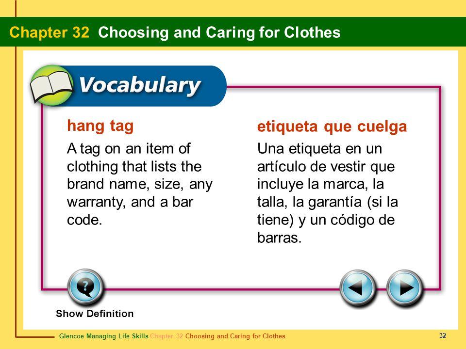 hang tag etiqueta que cuelga