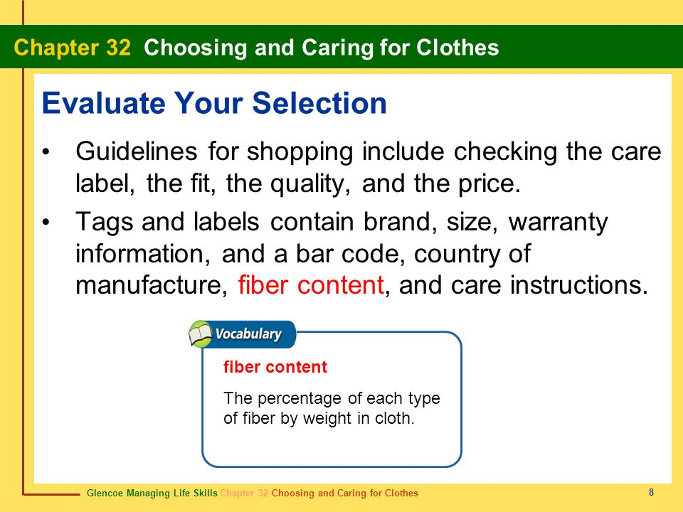 Evaluate Your Selection
