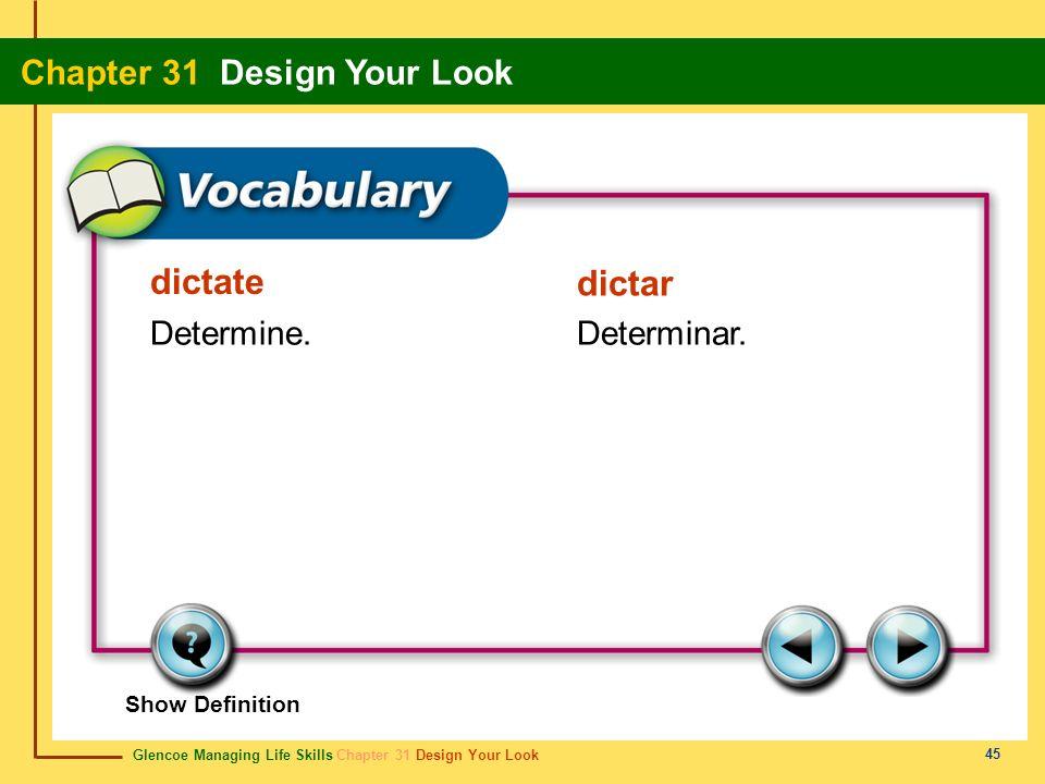 dictate dictar Determine. Determinar. Show Definition