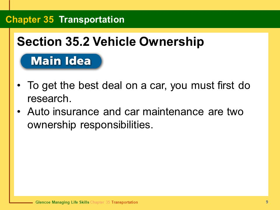 Section 35.2 Vehicle Ownership