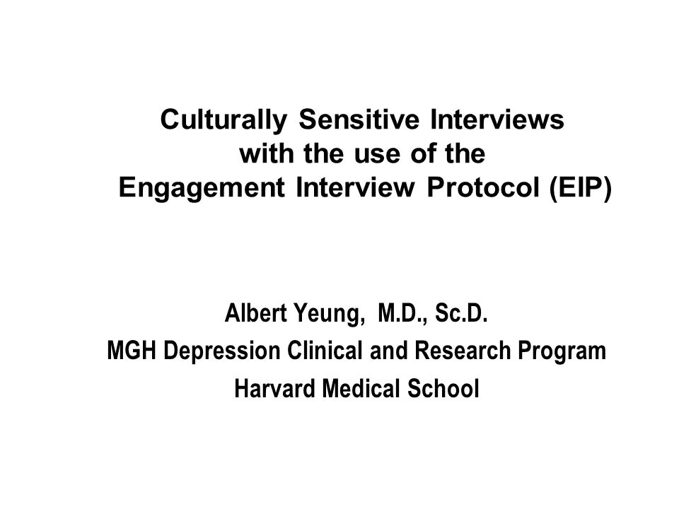 MGH Depression Clinical and Research Program Harvard Medical School