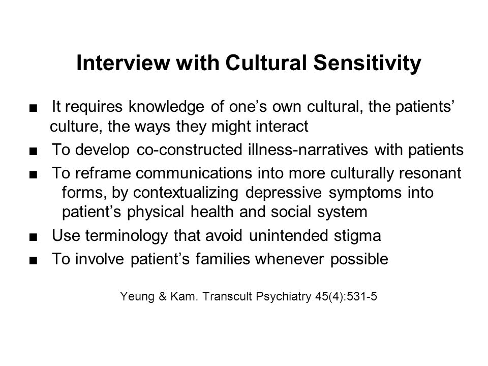 Interview with Cultural Sensitivity