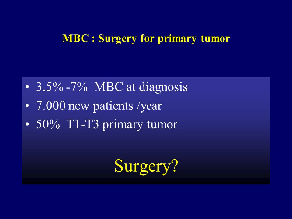 MBC : Surgery for primary tumor