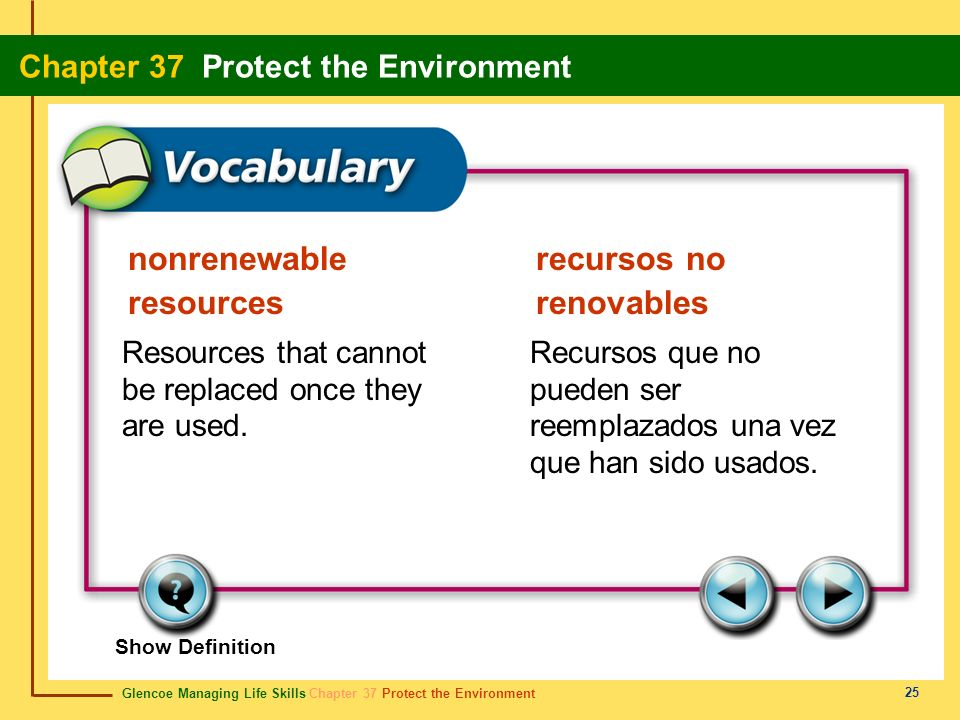 nonrenewable resources recursos no renovables