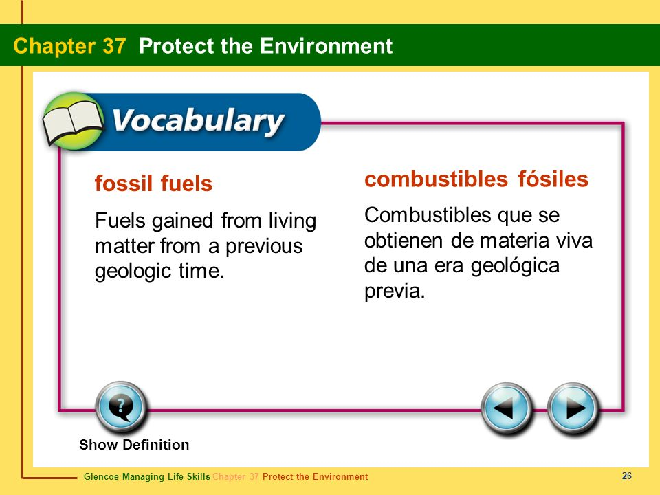 combustibles fósiles fossil fuels