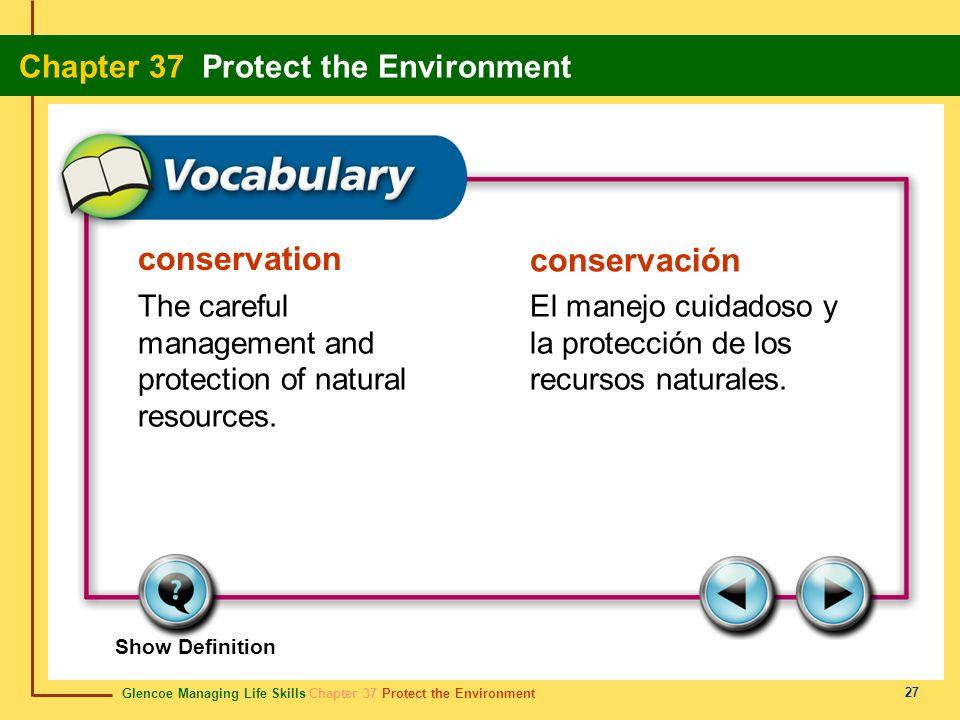 conservation conservación