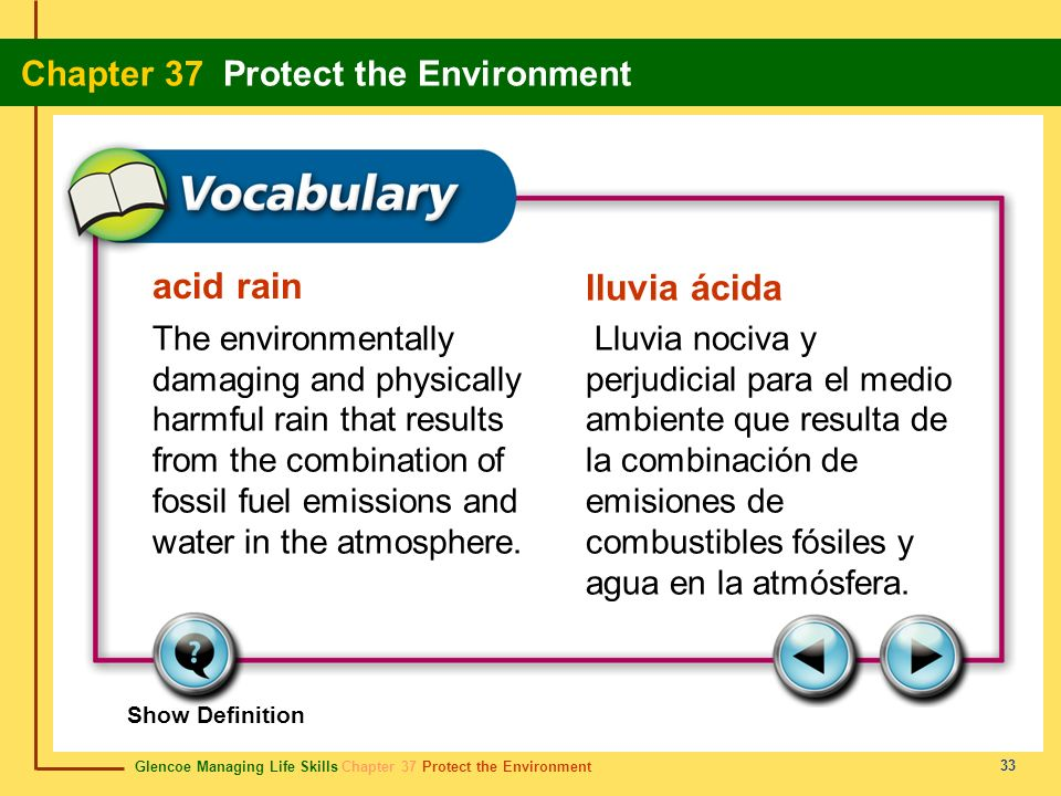acid rain lluvia ácida.
