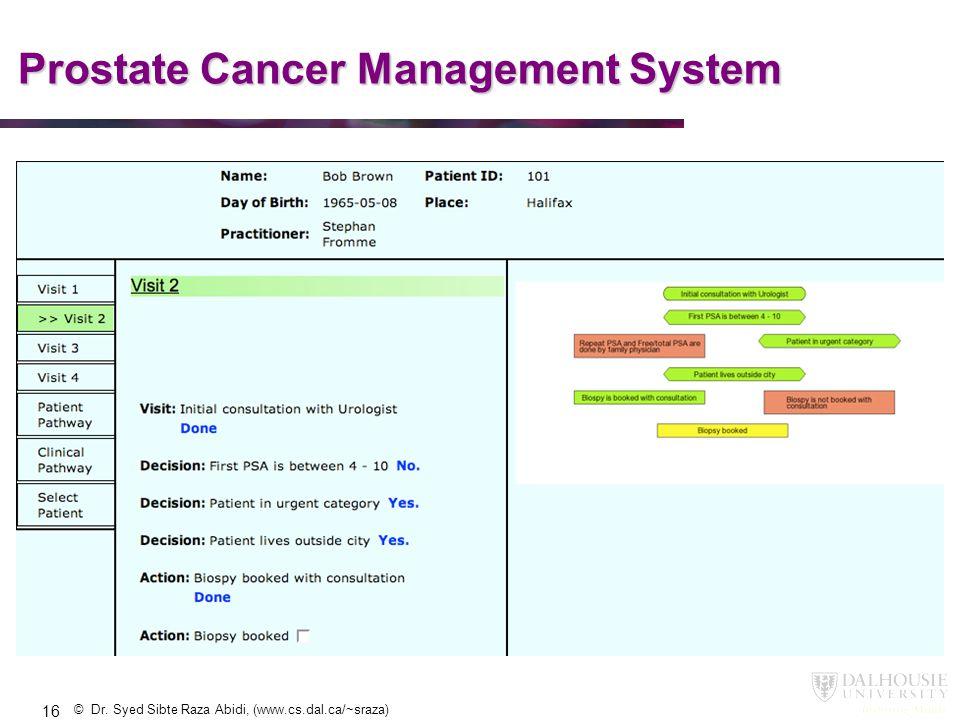 Prostate Cancer Management System