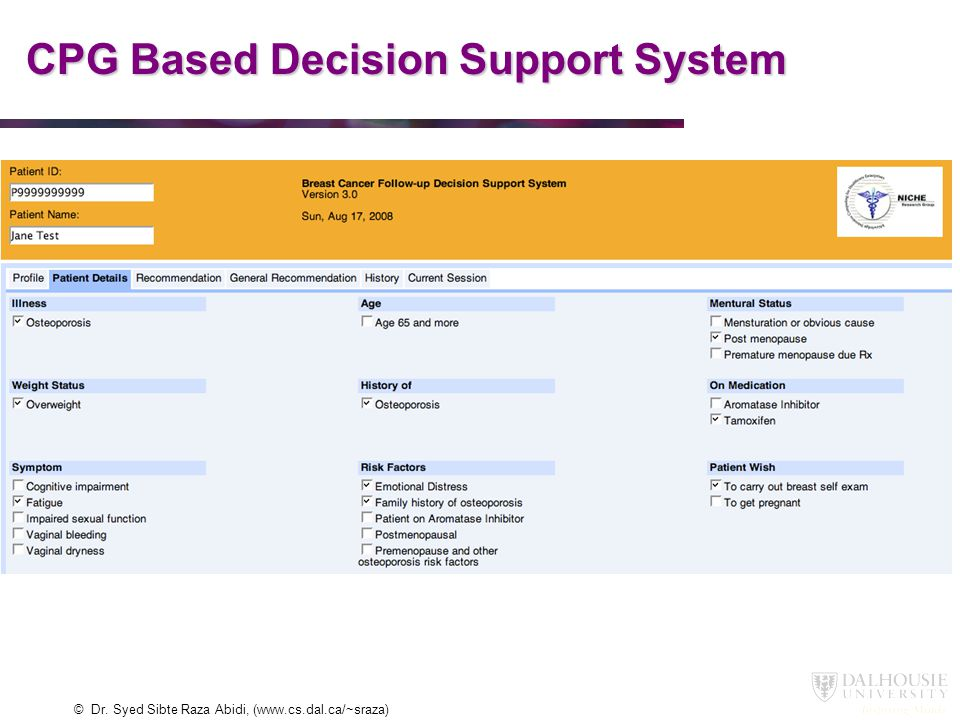 CPG Based Decision Support System