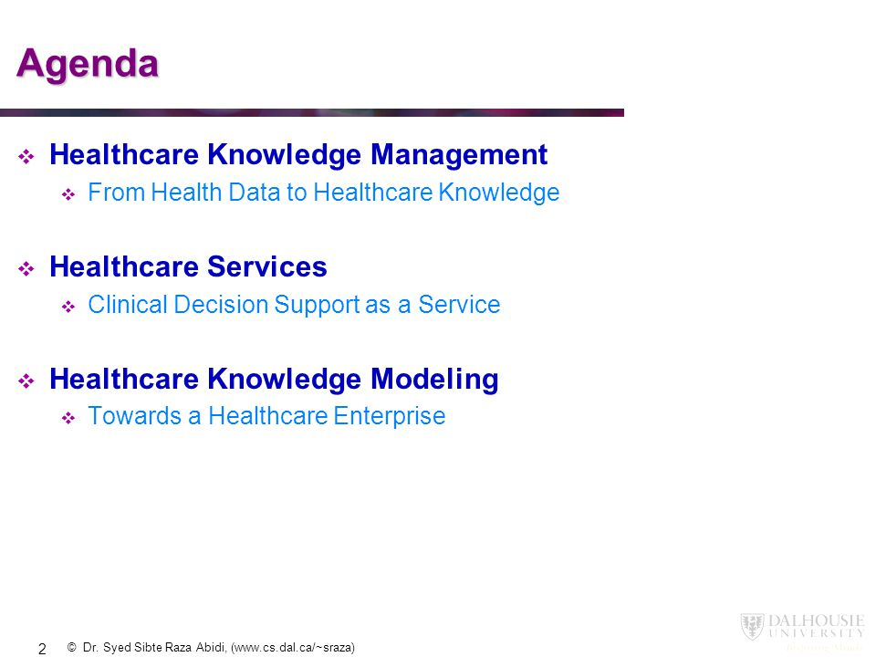 Agenda Healthcare Knowledge Management Healthcare Services