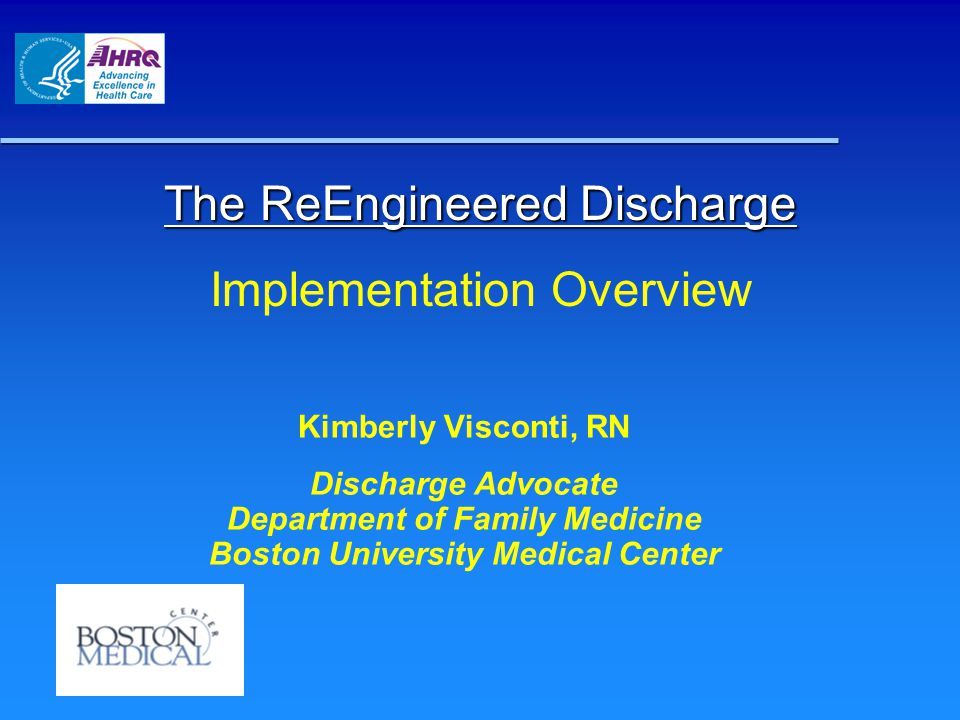 The ReEngineered Discharge Implementation Overview