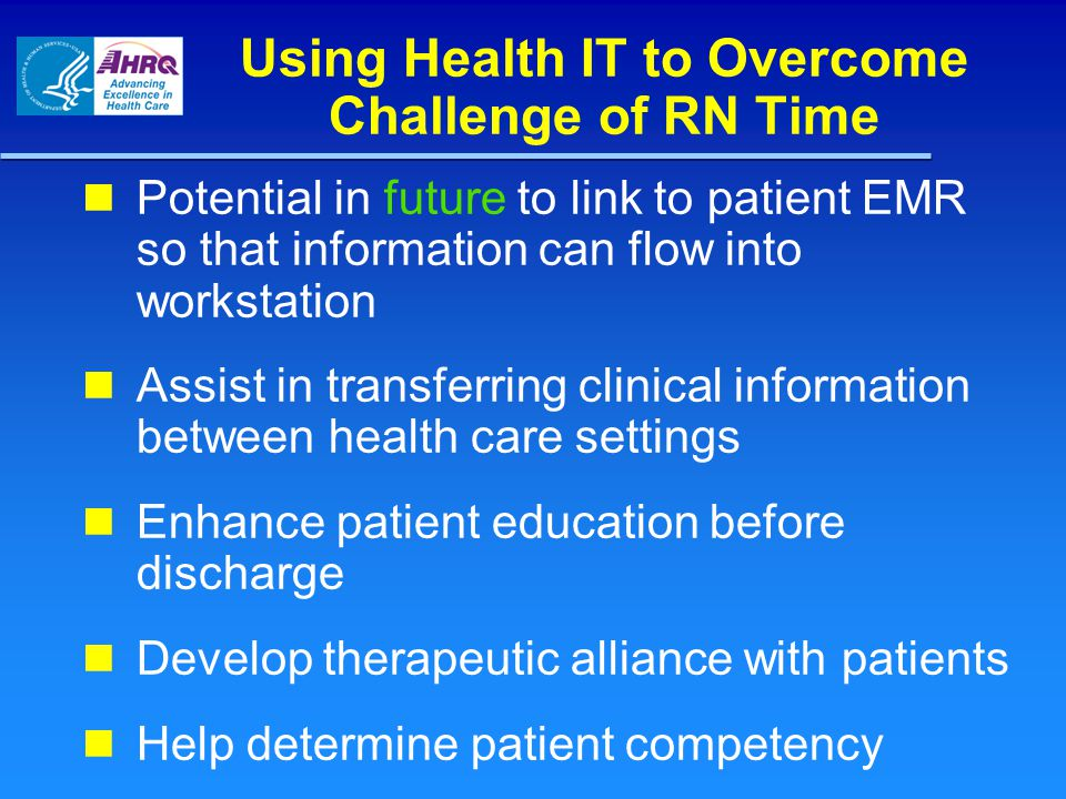 Using Health IT to Overcome Challenge of RN Time