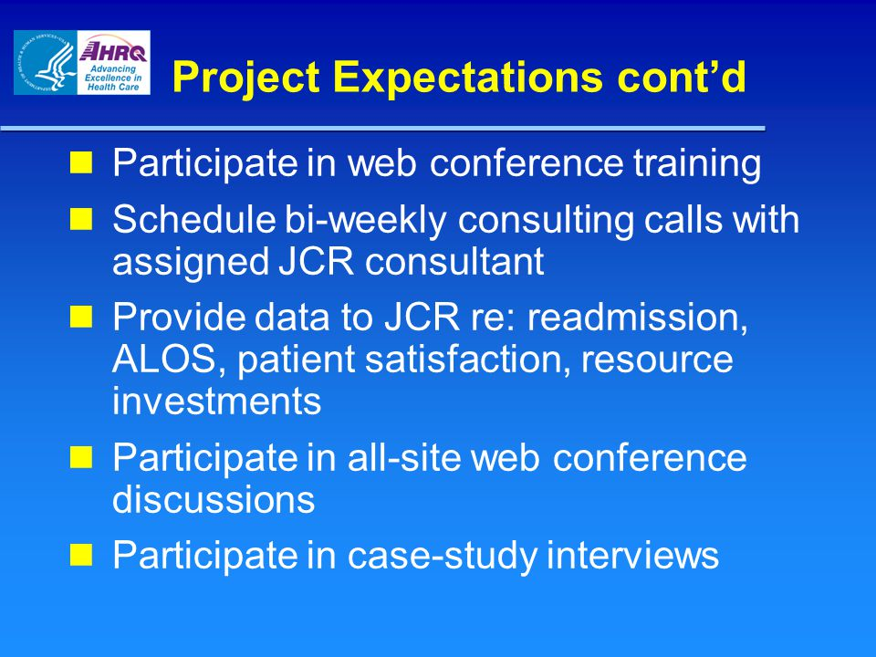 Project Expectations cont'd