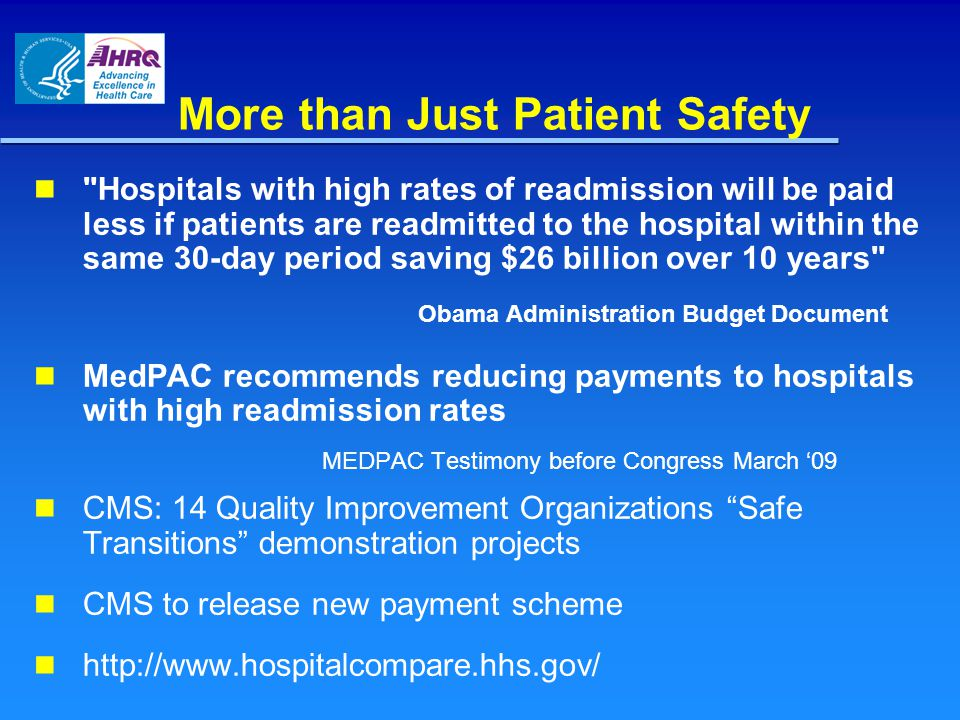 More than Just Patient Safety