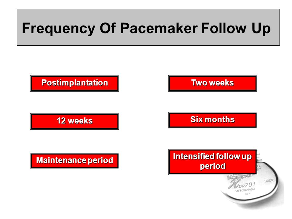 Frequency Of Pacemaker Follow Up