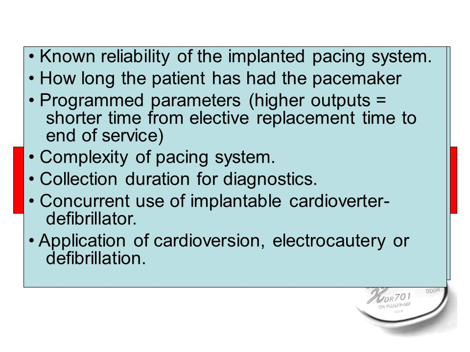 Considerations in determining a pacemaker follow-up schedule