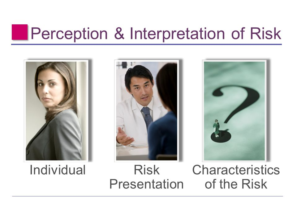 Perception & Interpretation of Risk