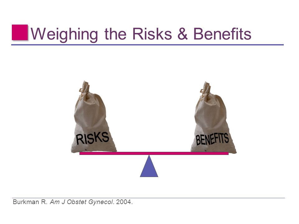 Weighing the Risks & Benefits