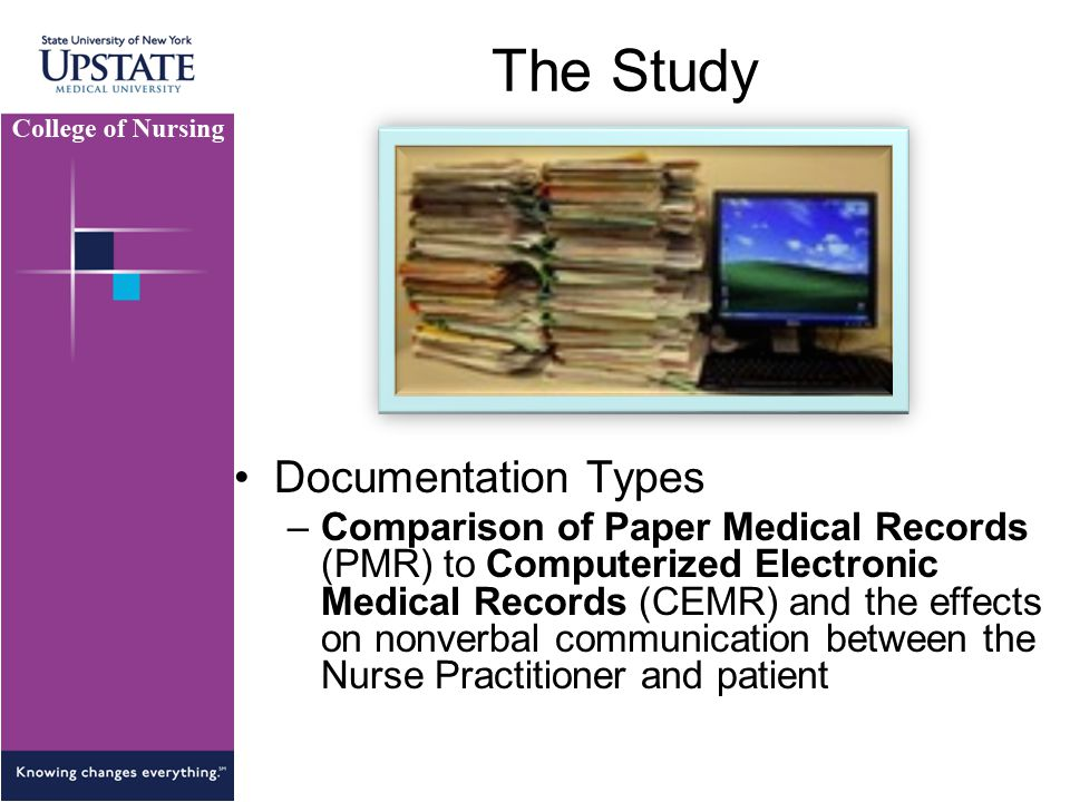 The Study Documentation Types
