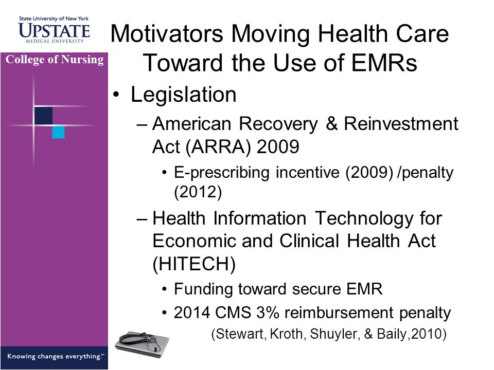 Motivators Moving Health Care Toward the Use of EMRs