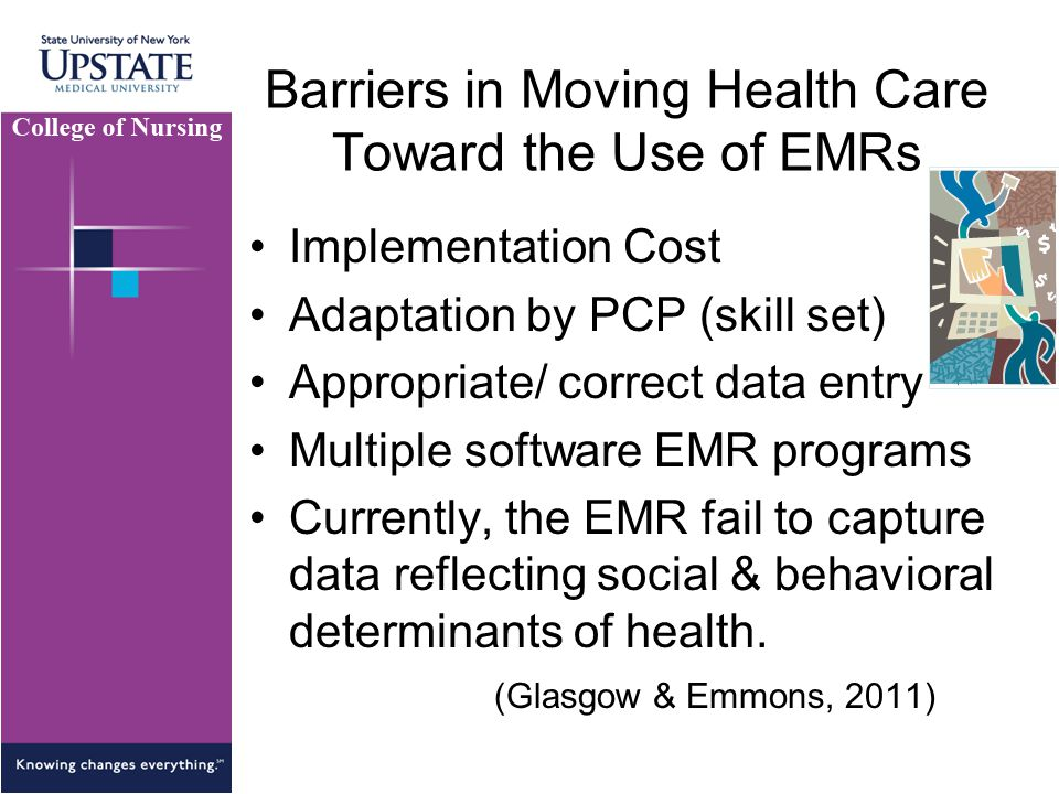 Barriers in Moving Health Care Toward the Use of EMRs