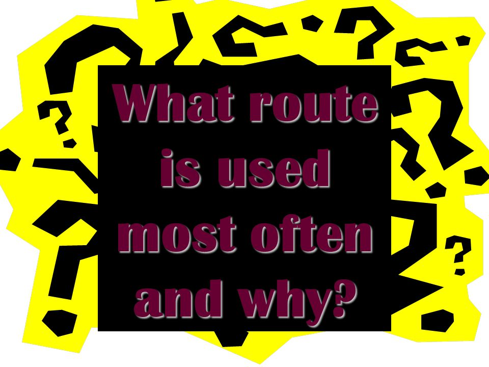 What route is used most often and why