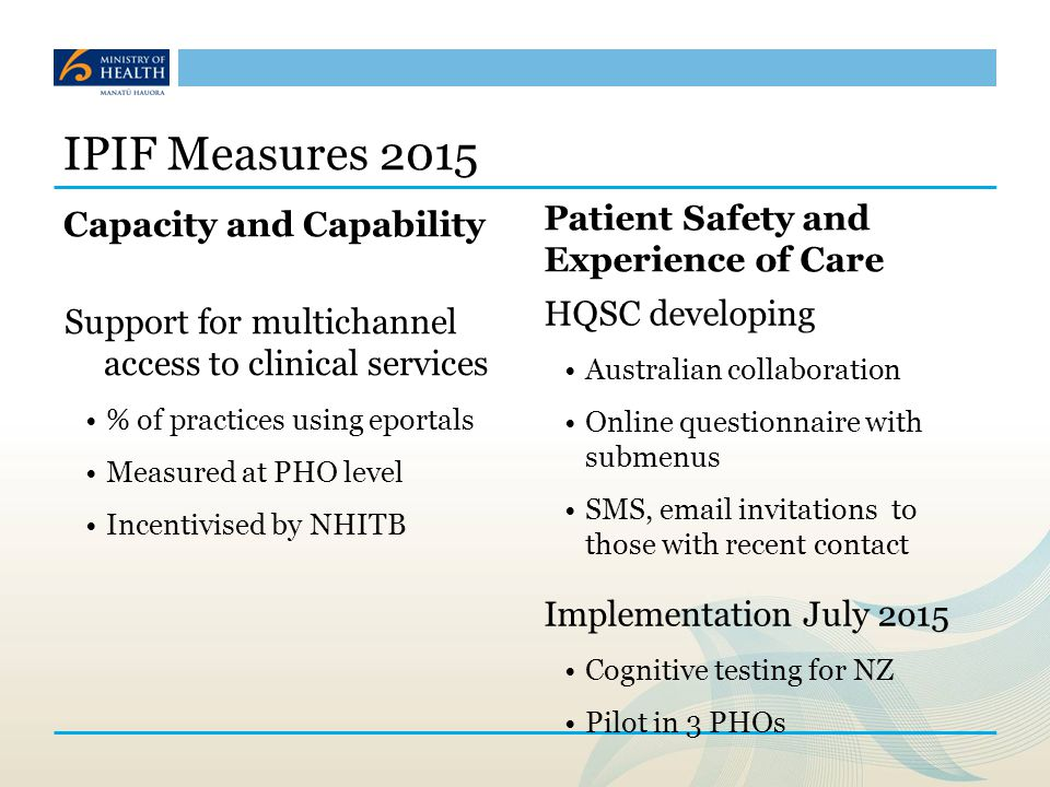 IPIF Measures 2015 Capacity and Capability
