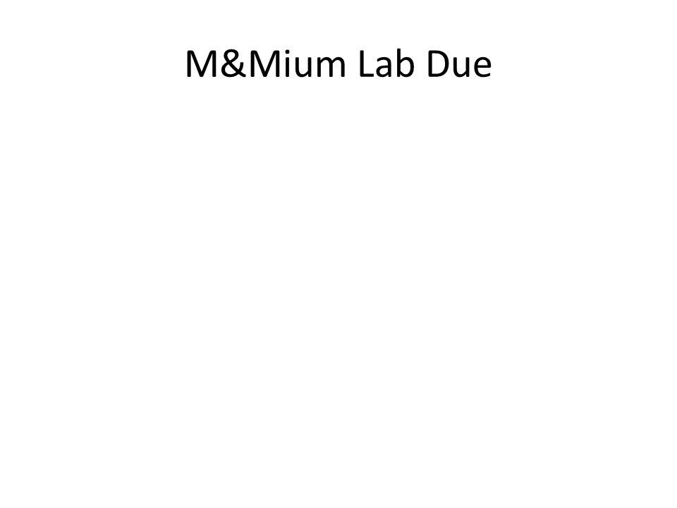 M&Mium Lab Due