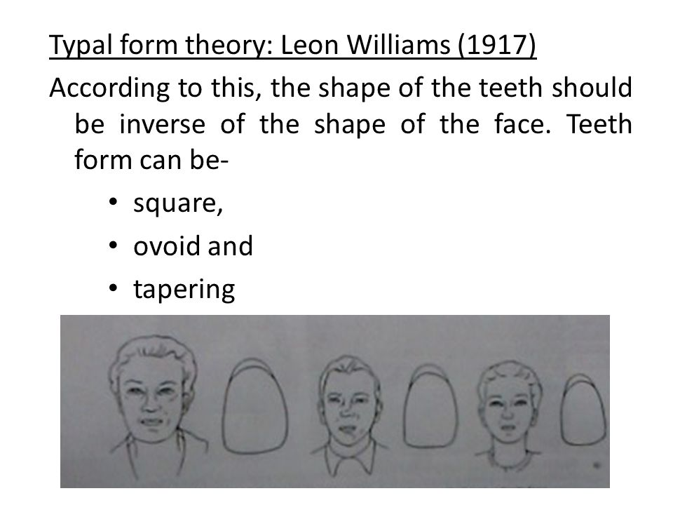 Typal form theory: Leon Williams (1917)