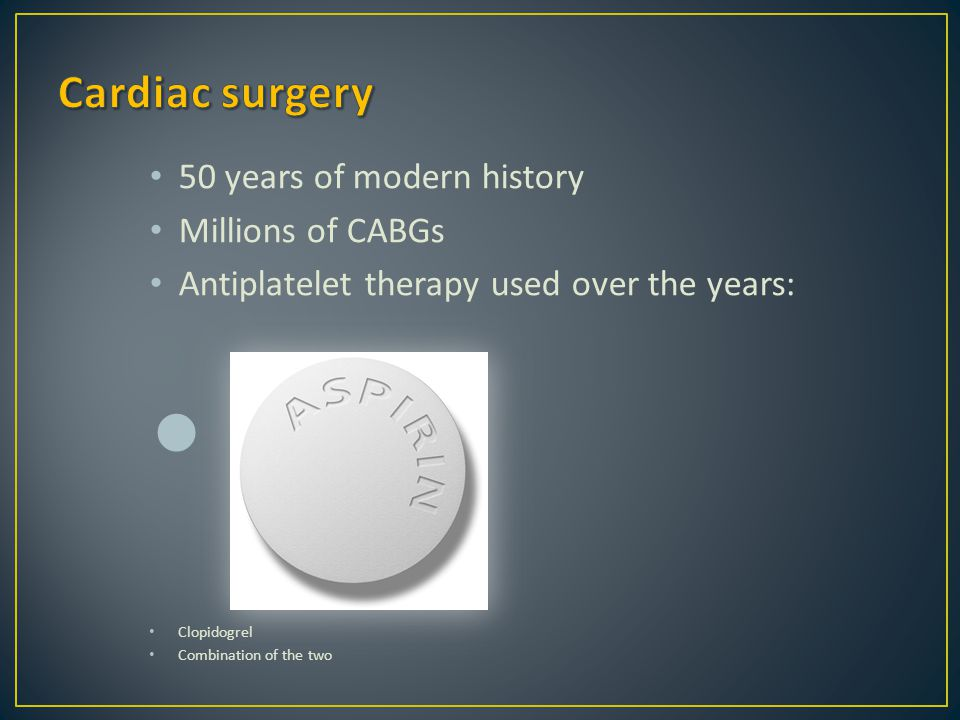 Cardiac surgery 50 years of modern history Millions of CABGs