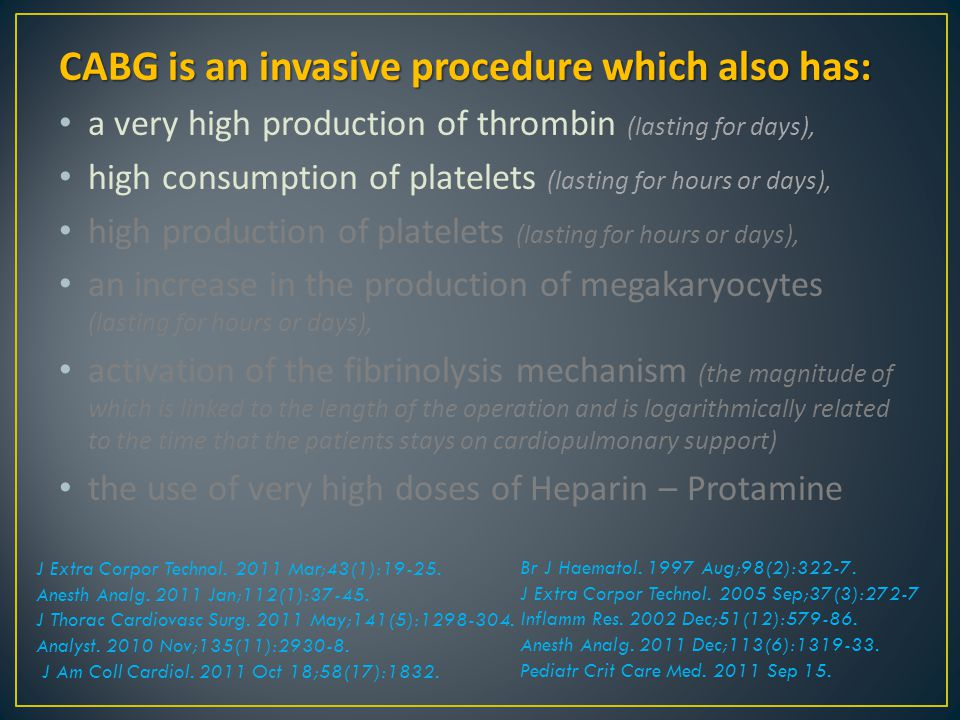 CABG is an invasive procedure which also has: