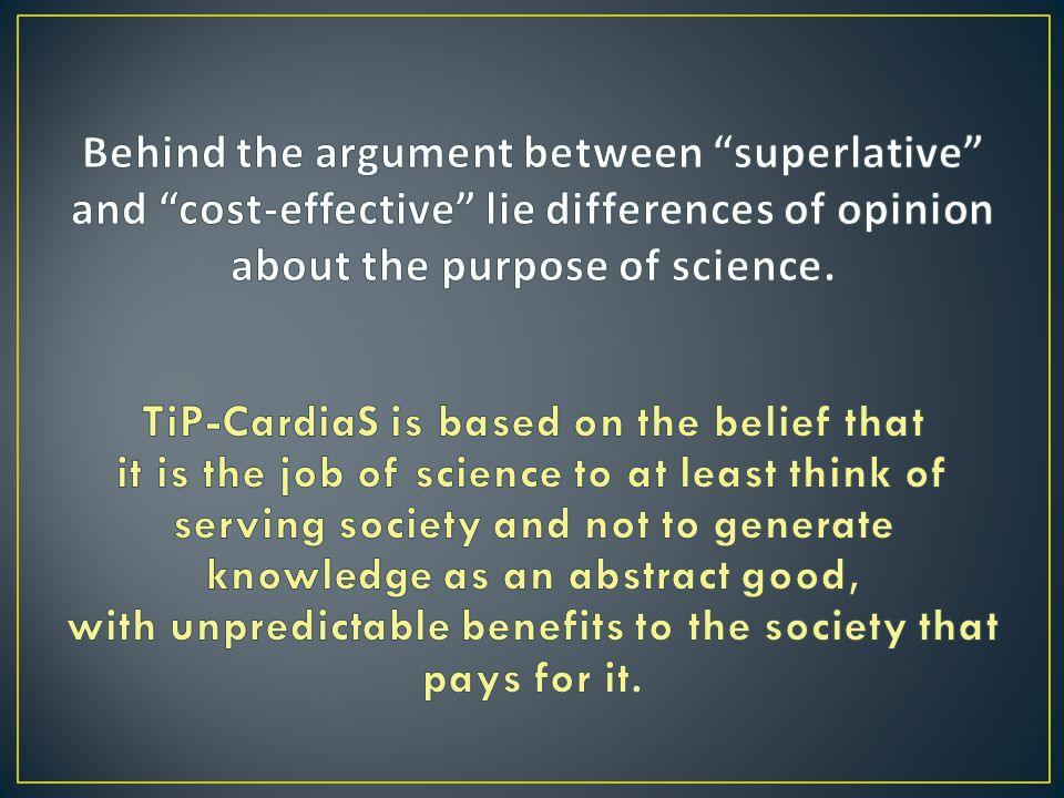 TiP-CardiaS is based on the belief that