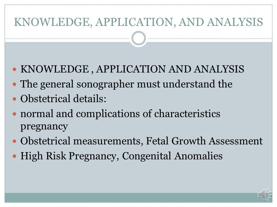 KNOWLEDGE, APPLICATION, AND ANALYSIS