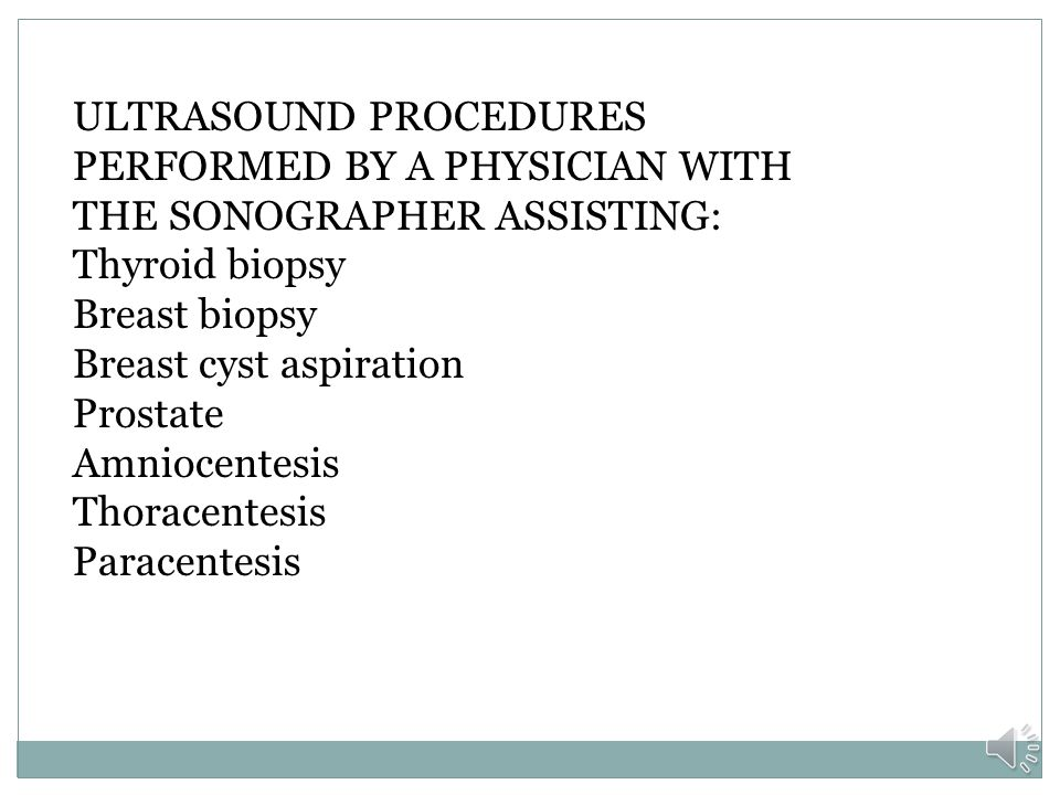 ULTRASOUND PROCEDURES PERFORMED BY A PHYSICIAN WITH THE SONOGRAPHER ASSISTING: Thyroid biopsy