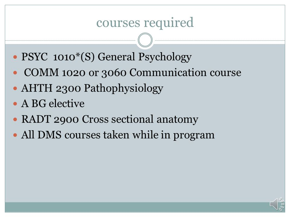 courses required PSYC 1010*(S) General Psychology