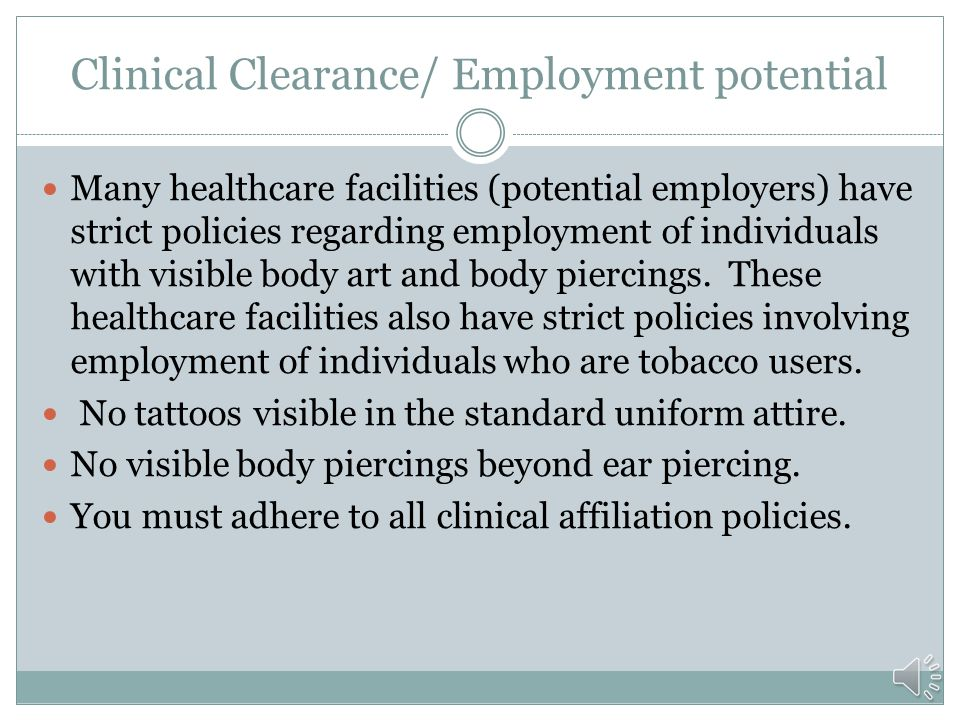 Clinical Clearance/ Employment potential