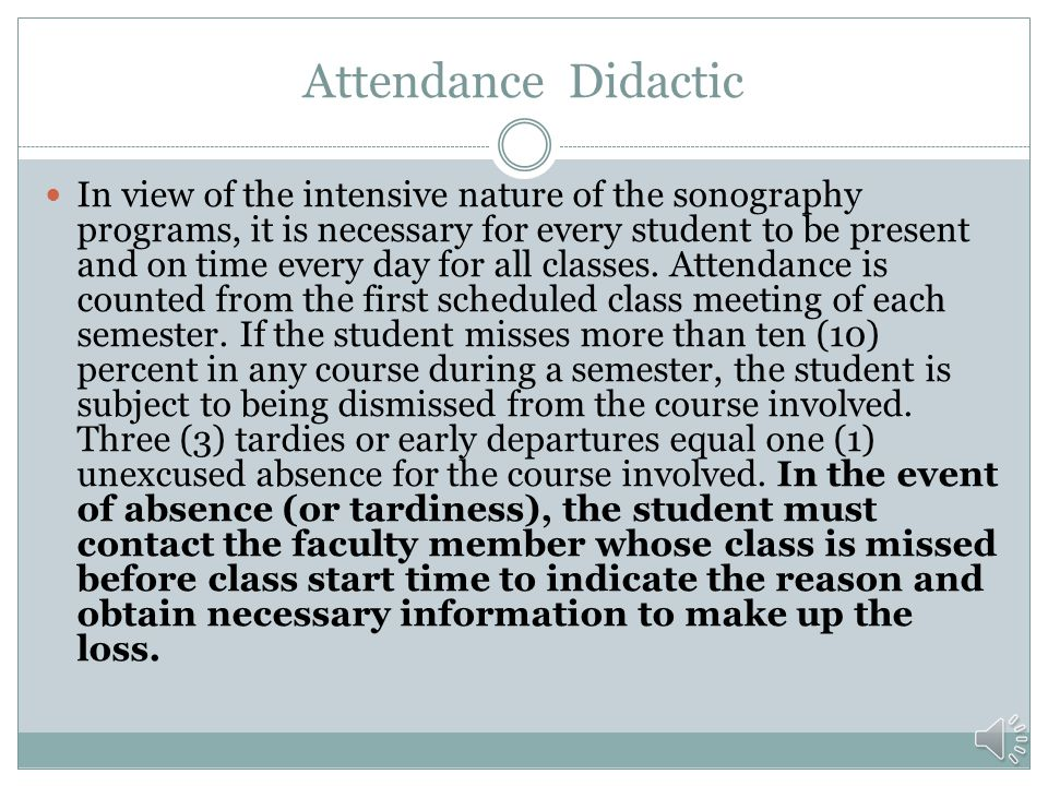 Attendance Didactic