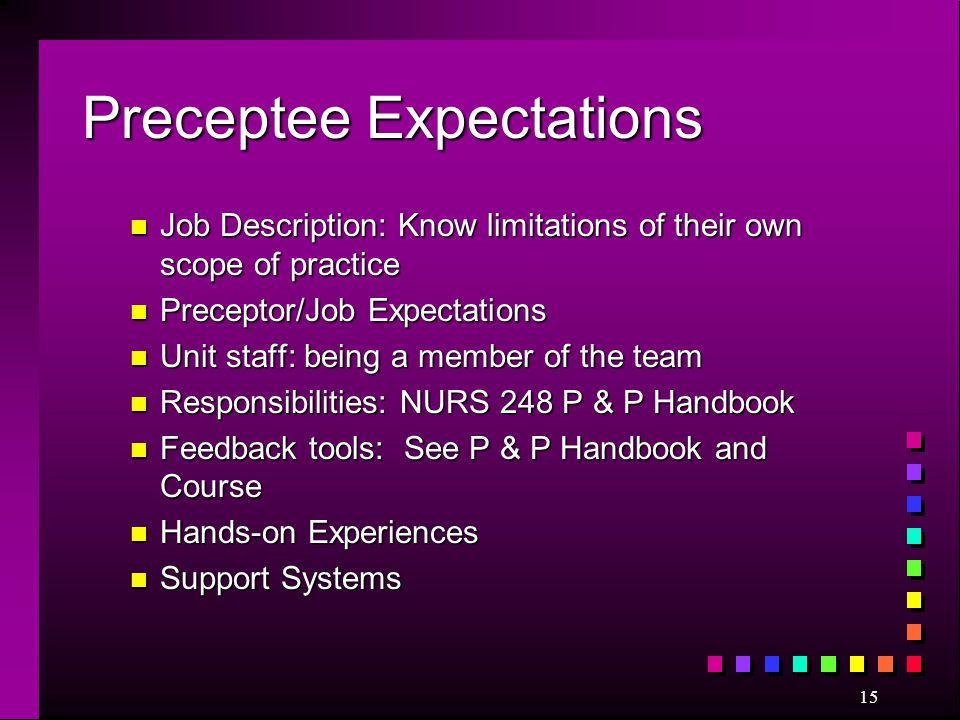 Preceptee Expectations