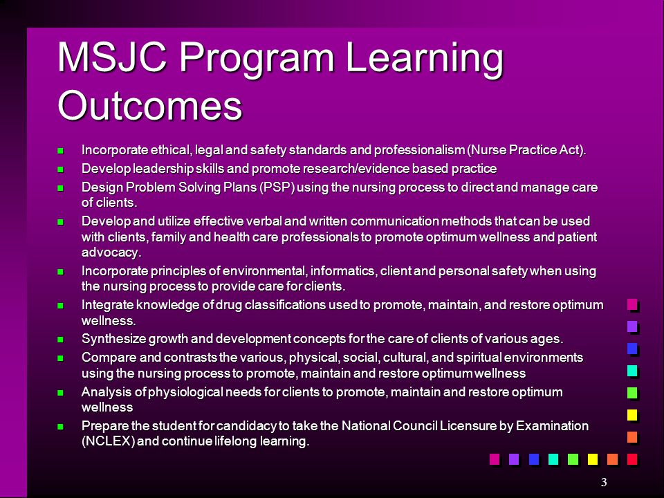 MSJC Program Learning Outcomes