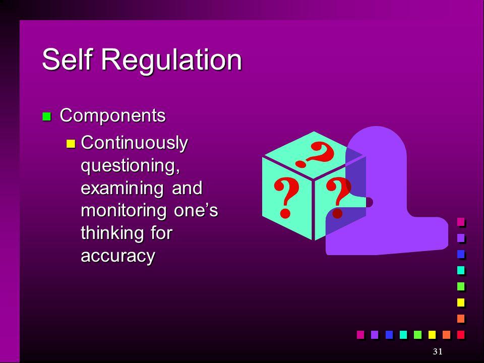 Self Regulation Components