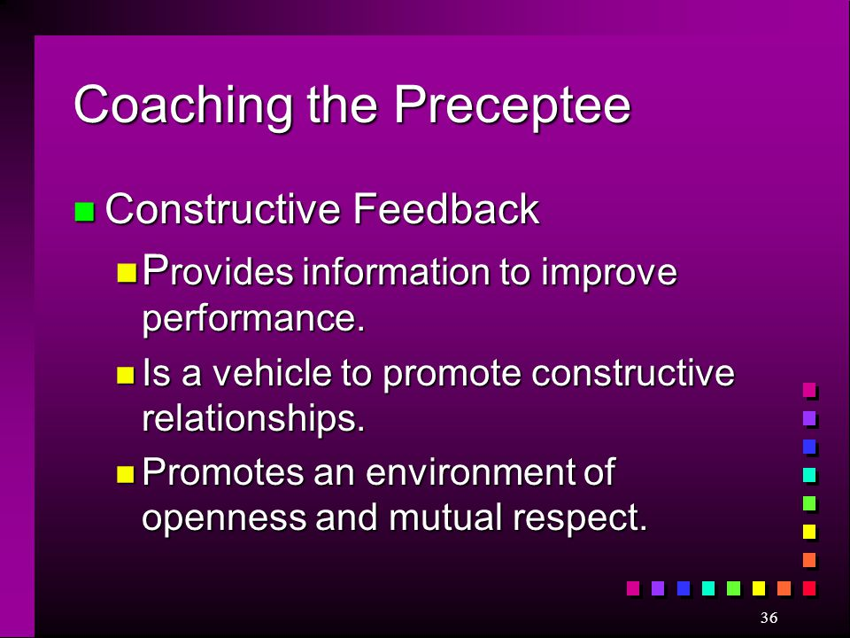 Coaching the Preceptee