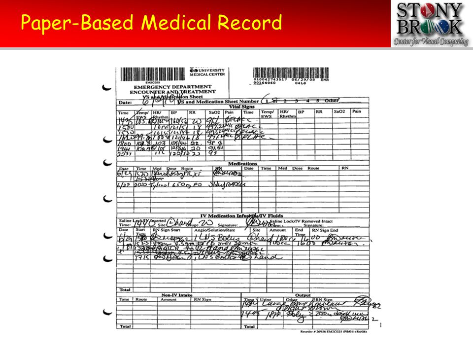 Paper-Based Medical Record