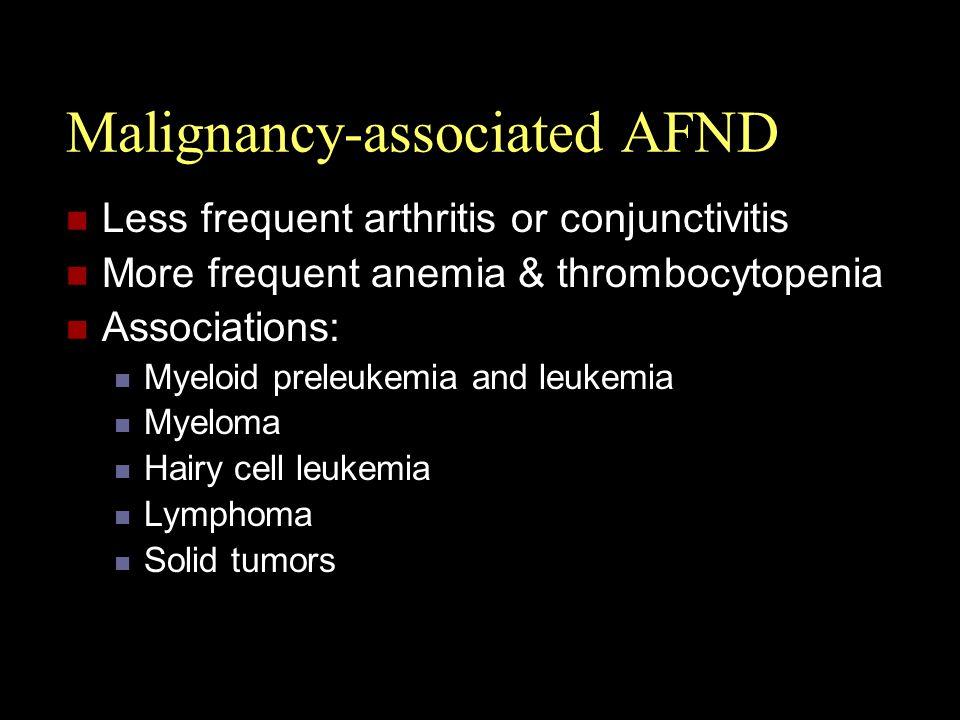 Malignancy-associated AFND