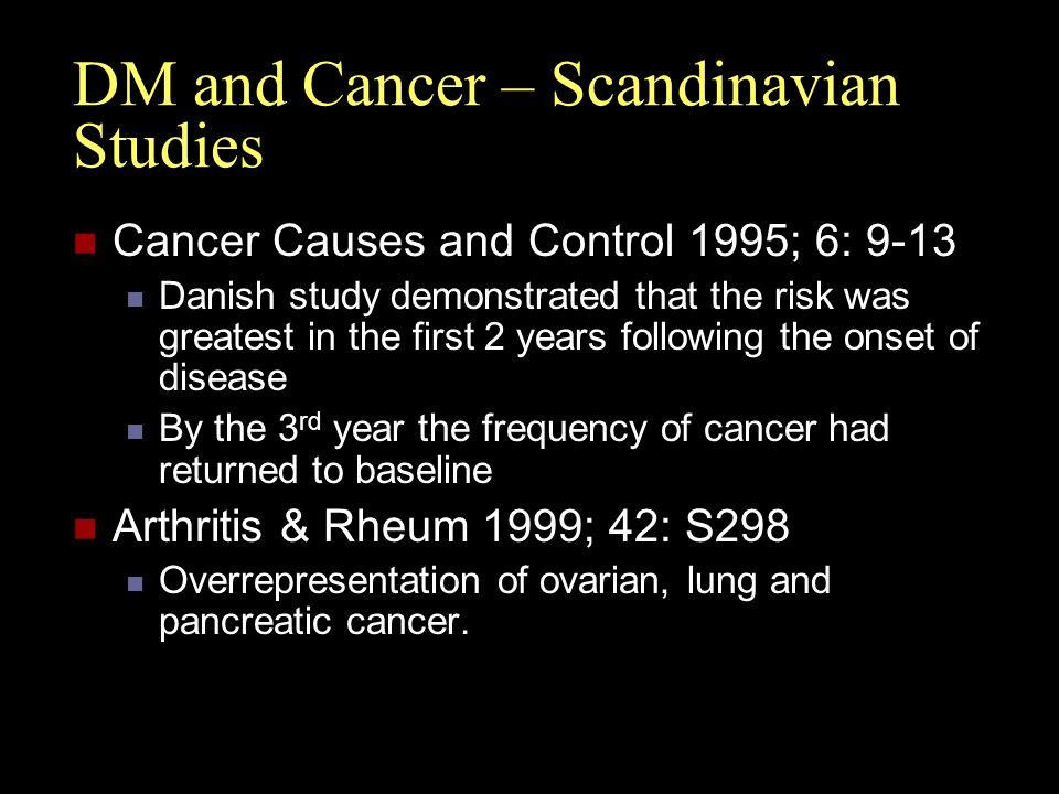 DM and Cancer – Scandinavian Studies