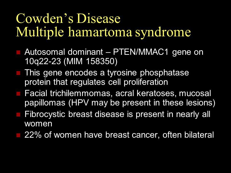 Cowden's Disease Multiple hamartoma syndrome