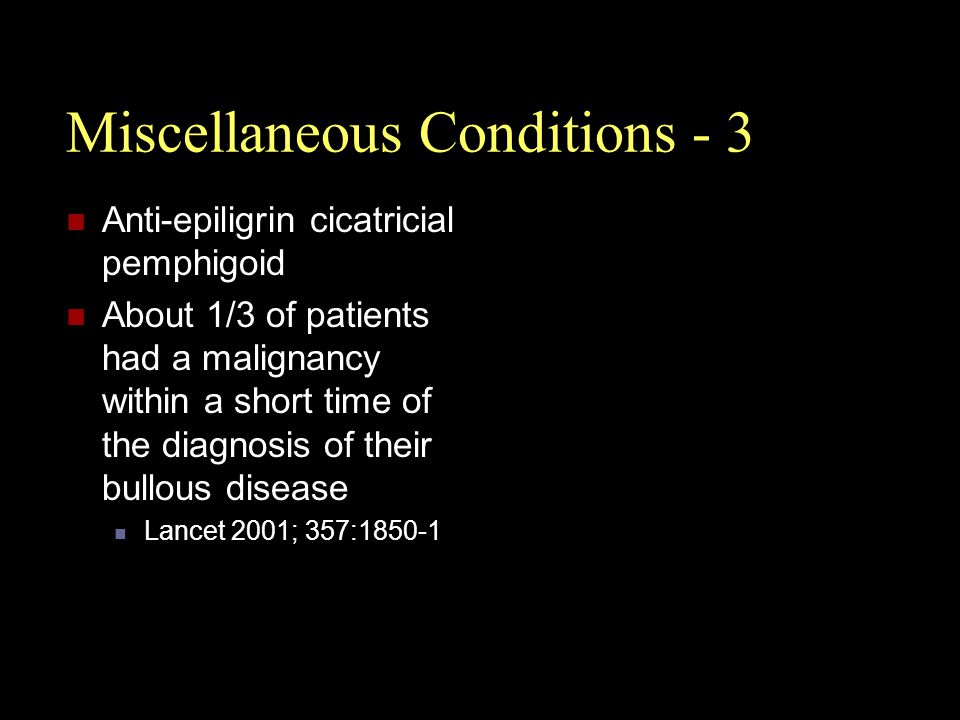 Miscellaneous Conditions - 3