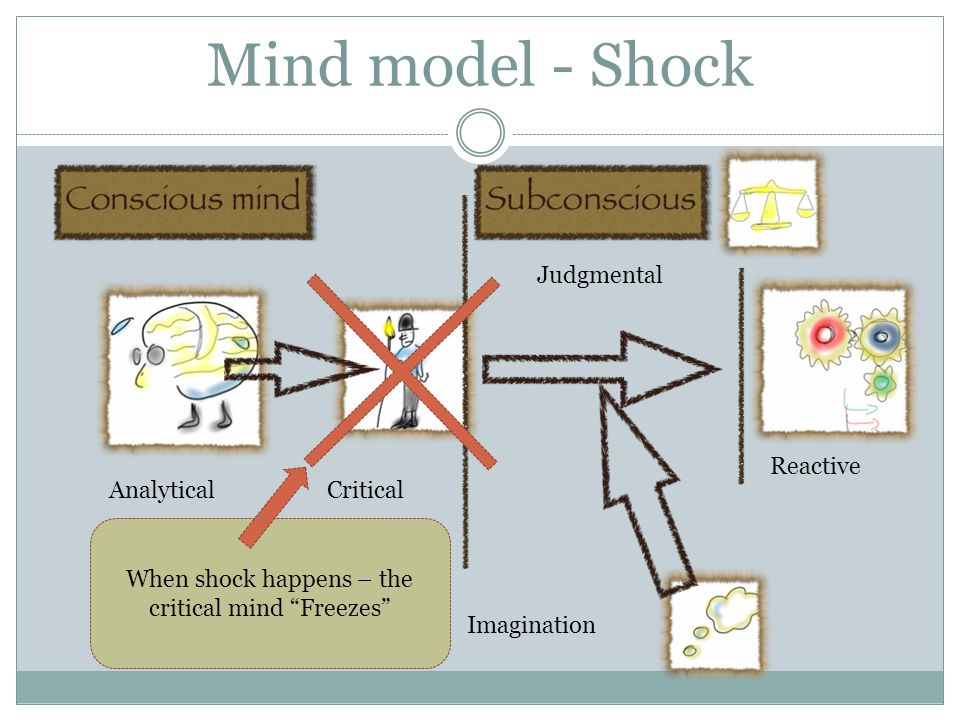 When shock happens – the critical mind Freezes